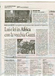 Press - Lui e lei in Africa con la vecchia Guzzi