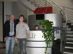 Incontro con l'Africa 2012 - Presso la sede della Givi a Brescia, per ritirare qualche accessorio  per motina