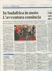 Press - In SudAfrica in moto, l'avventura comincia